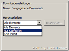 SharePoint Workspace 2010: Konfigurationseinstellungen
