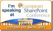 Ich spreche auf der European SharePoint Conference