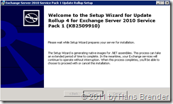 Rollup 4 for Exchange Server 2010 Service Pack 1