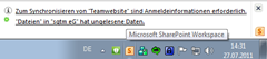 SharePoint Workspace Anmeldeinformationen