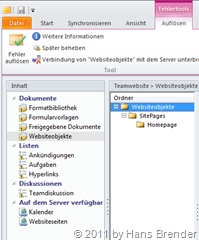 Synchronisationsprobleme in SharePoint Workspace 2010