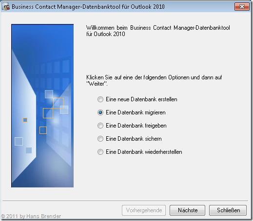 Migration einer BMC 2007 Datenbank auf BMC 2010