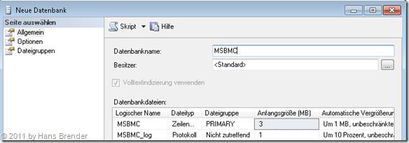"""SQL Server 2008: Erzeuger einer """"leeren"""" Datenbank"""