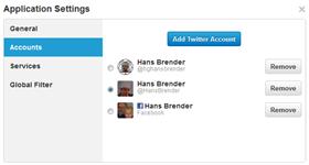Account Zuweisung in TweetDeck 1.3