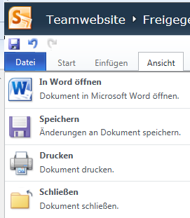 Unterschied: Word Web App  in Office 365