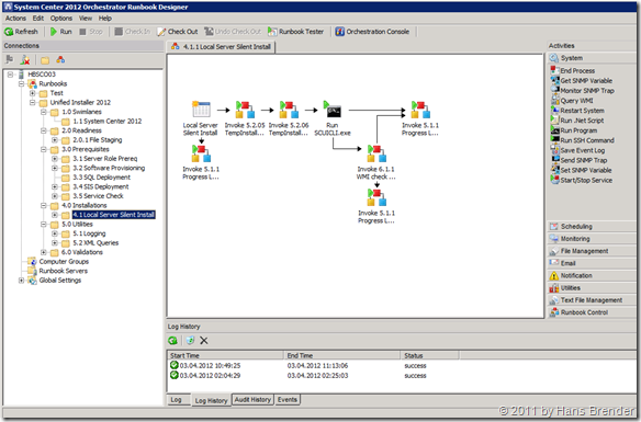System Center 2012 Orchestrator: Runbook Designer
