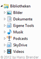 SkyDrive Einbindung mit Windows 7 Bibliotheken