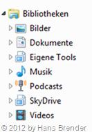 SkyDrive Einbindung mit Windows 7 Bibliotheken