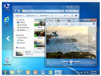 Klick and Run von SkyDrive synchronisierter Daten