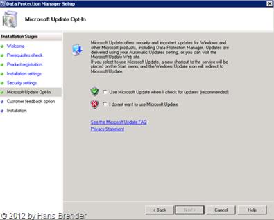 SC 2012 DPM: Microsoft Update