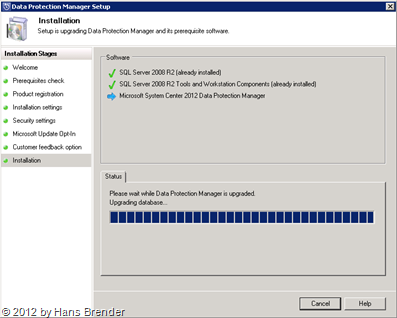 SC 2012 DPM: Upgrade der lokalen Installtion