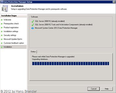 SC 2012 DPM: Upgrade der lokalen Installtion