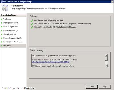 SC 2012 DPM: Upgrade erledigt