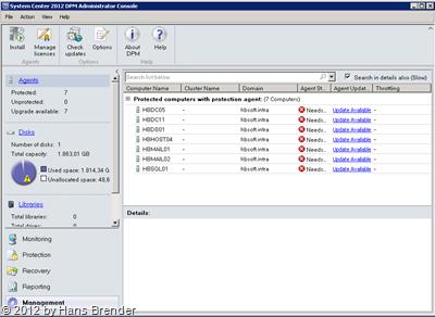 SC 20120 DPM Administrator Console: Management