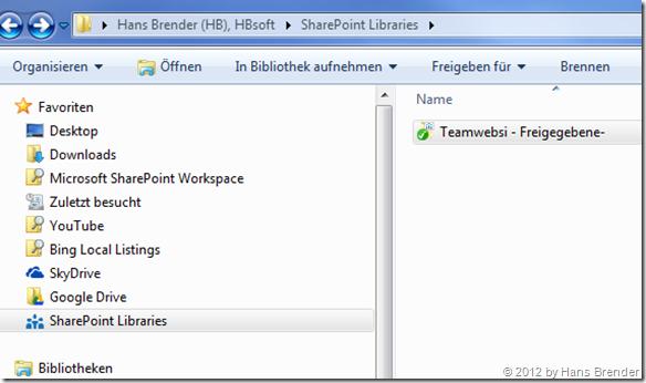 SkyDrive Pro SharePoint  Bibliothek