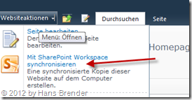 SharePoint Workspace Synchronisation