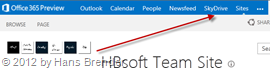 SkyDrive , Skydrive Pro in Sharepoint Server 2013 Preview