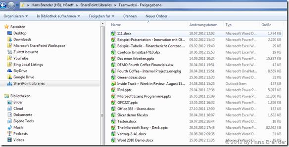 SkyDrive Pro und die Dokumentenbibliothek