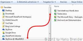 lokale Mysite -Dokumente im Windows-Explorer