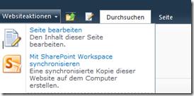Offline Synchronisation mit SharePoint Workspace 2010