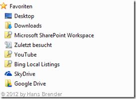 Skydrive Pro in den Favoriten vom Windows Explorer