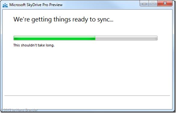 Erstsynchronierung, SkyDrive Pro