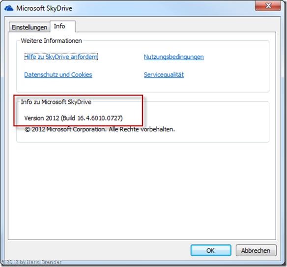 SkyDrive 2012, 16.4.6010.0727