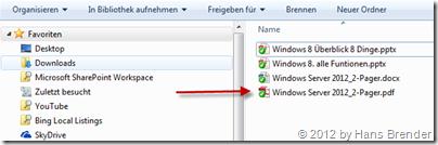 Anzeige, Windows Explorer, SkyDrive