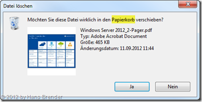 Sicherheitsabfrage in Windows