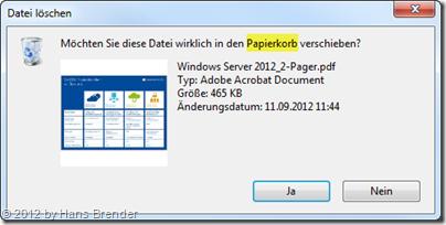 Sicherheitsabfrage in Windows