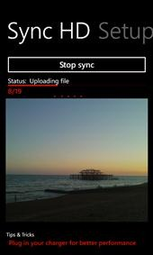 Upload Camera Roll Sync, Windows Phone