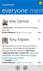 Sharepoint App für Windows Phone