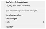 SkyDrive-Einstellungen