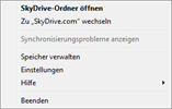 SkyDrive settings