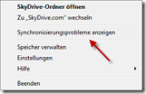 Dialog in SkyDrive