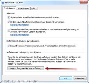 Konfiguration von SkyDrive