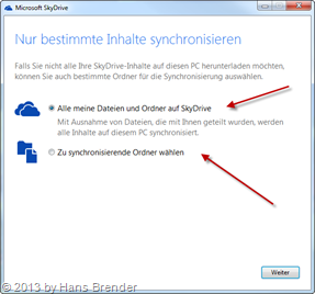 Configuration in SkyDrive: how many folders...