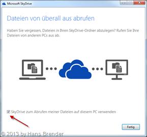 Remote Zugriff via SkyDrive auf 2. Rechner