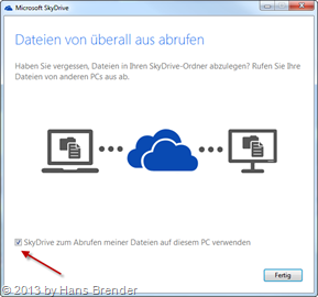 Remote Access via SkyDrive to another SkyDrive PC