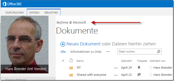 Browser-Darstellung, mySite, SharePoint Server 2013