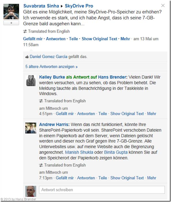 Nachrichtentexte in deutscher Sprache, übersetzt