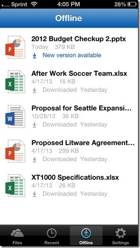 SkyDrive Pro - iPhone