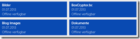 SkyDrive App unter Windows 8.1, Offline