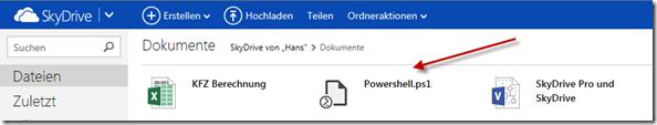 HTML5 Editor auf SkyDrive.com