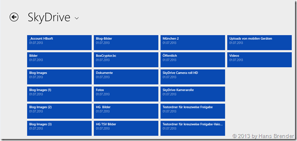 SkyDrive App unter Windows 8.1