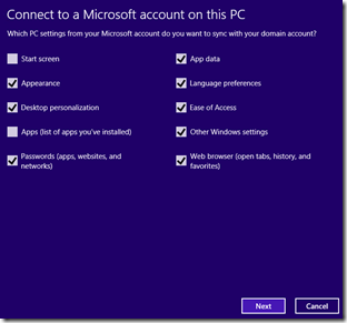 Connect to a microsoft account
