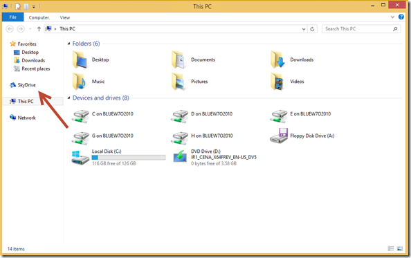 first Sync of your SkyDrive folder Structure