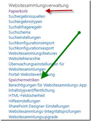 Websitesammlungsverwaltung