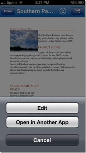 SkyDrive Pro auf dem iPhone