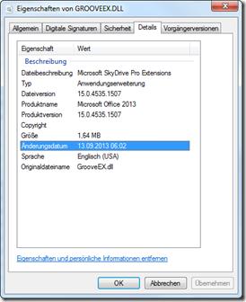 Grooveex.dll mit der Version 15.0.4535.1507